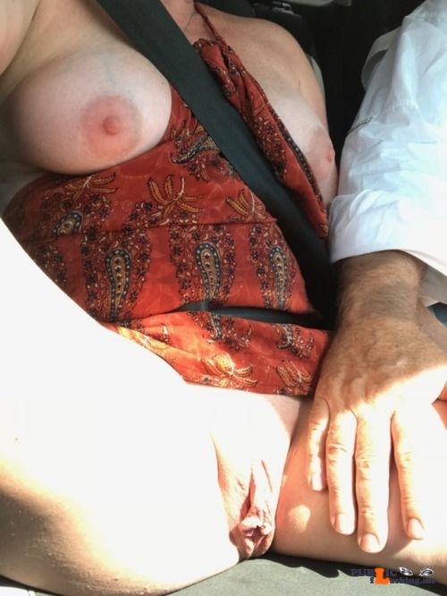 No panties lalamelange: Drive time pantiesless