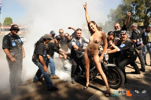 Public nudity photo omg-l00k-at-me:Biker Festivals Burnout!! Follow me for more…