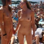 Public nudity photo cfnf-clothed-female-naked-female: Two Naked Girl's Attend a…