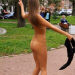 Public nudity photo cfnf-clothed-female-naked-female: A Beautiful-Nude-Girl Walking…