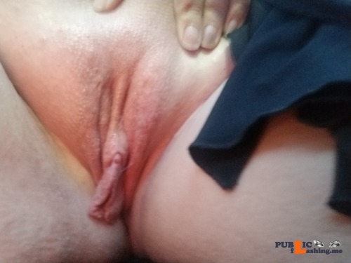 No panties 42ds: Fresh off the waxing table, back in the car in a very… pantiesless
