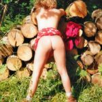 No panties itsrockhard: Woodpile flash pantiesless