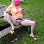 No panties licky999: I took my dog for a walk at a state park! And I found… pantiesless