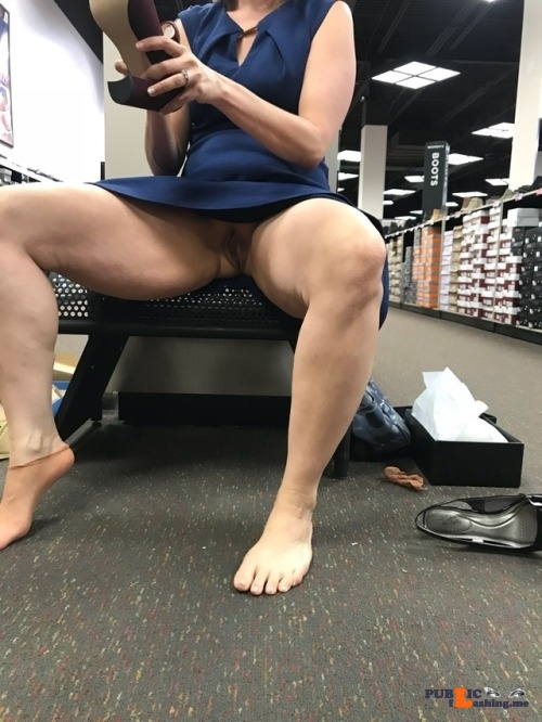 No panties objectsofyourdesire: Shoe shopping. See anything you… pantiesless