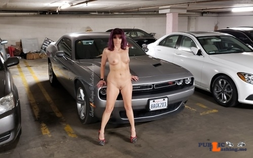 Public flashing photo sebnmonique: Parking garage in the condo we rented last week.