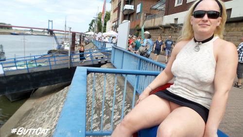 No panties mastersbuttcat: #buttcat enjoys the view of the harbour. some… pantiesless