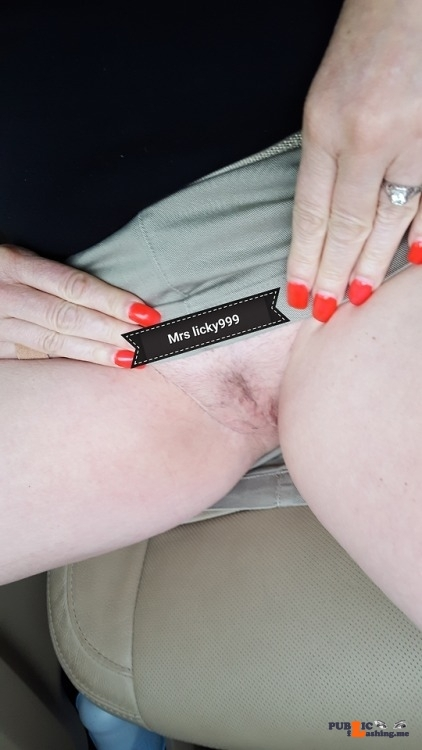 Public Flashing Photo Feed : No panties licky999: I took a picture of my dessert on the way home from… pantiesless