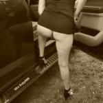 No panties licky999: My beautiful wife feeling like a little old school… pantiesless