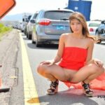 FTV Babes Gorgeous Melody stops traffic by flashing her pussy on a busy…