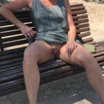 No panties frubble32: Love my sexy slut wife. Very naughty pantiesless