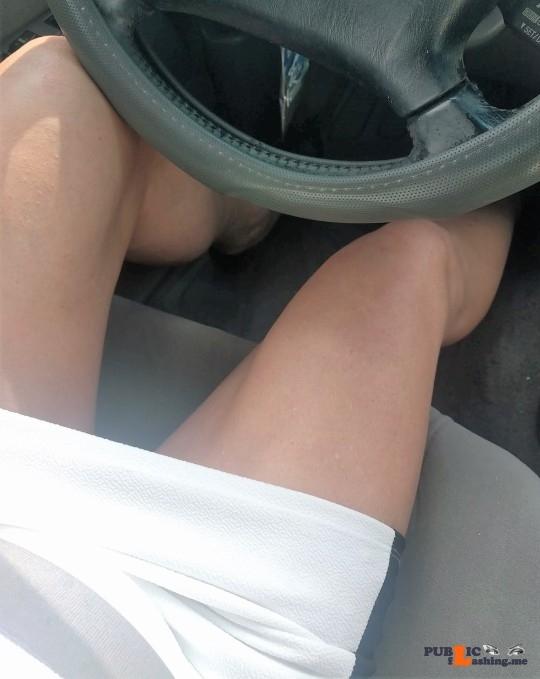 Public Flashing Photo Feed : No panties A playful ride home… pantiesless