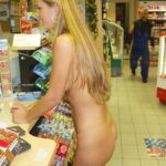 Public flashing photo visions-of-johanna-naked:She lost a bet.
