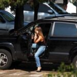 Exposed in public Jessica Lopes caught car changing…
