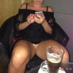 No panties maggua: In the bar 🍸 pantiesless