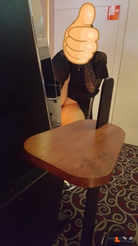 No panties witten48: lekker sliploos op stap pantiesless