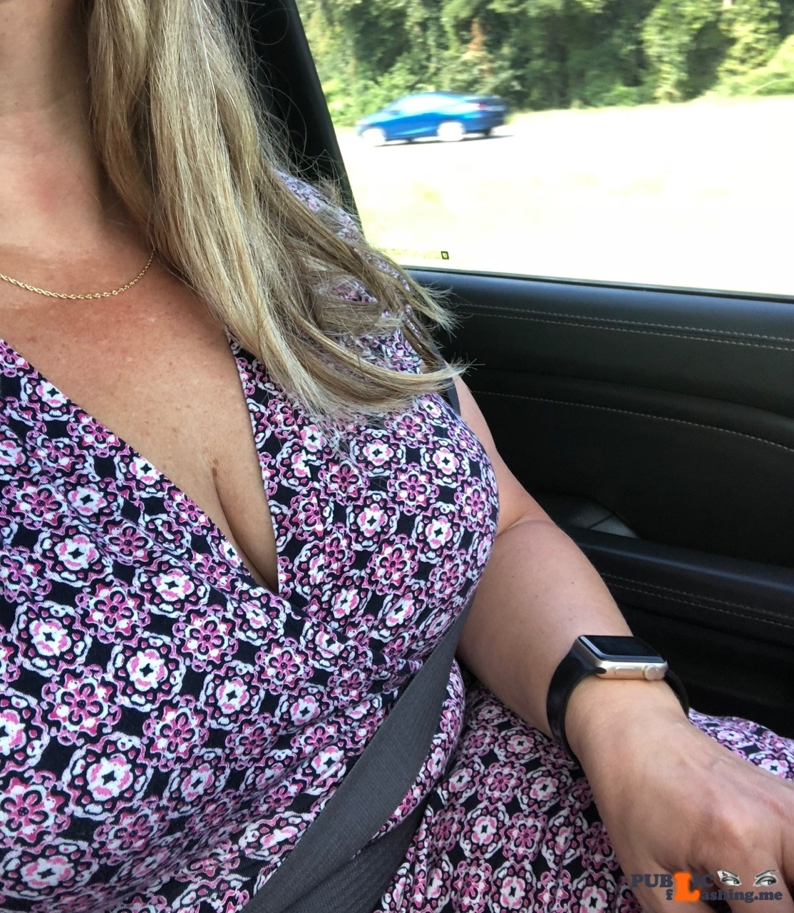 No panties 1luckyhotwife: Nothing like a long drive filled with anticipation!Being a LUCKY ? HOTWIFE allows me… pantiesless