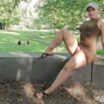 No panties mastersbuttcat: #buttcat relaxing in the park. pantiesless