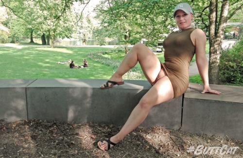 Public Flashing Photo Feed : No panties mastersbuttcat: #buttcat relaxing in the park. pantiesless