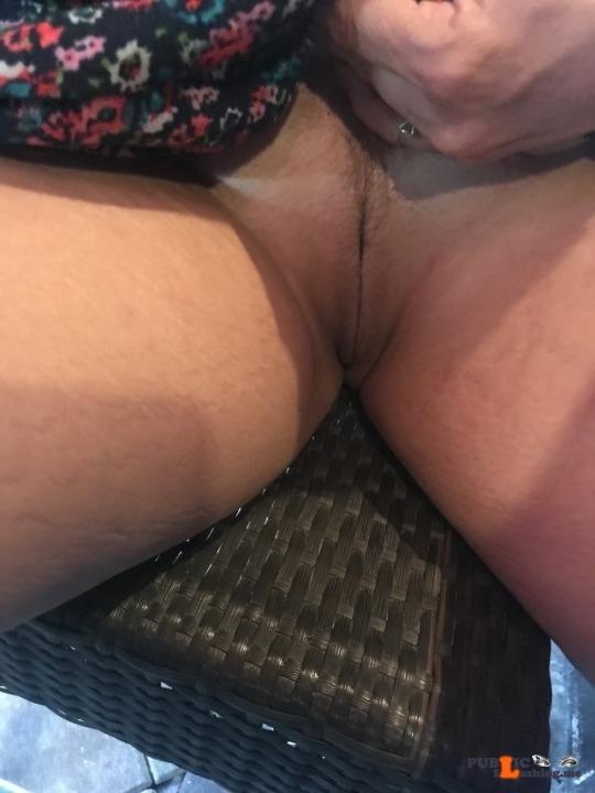 Public Flashing Photo Feed : No panties forevercpl: A little bar shot! pantiesless
