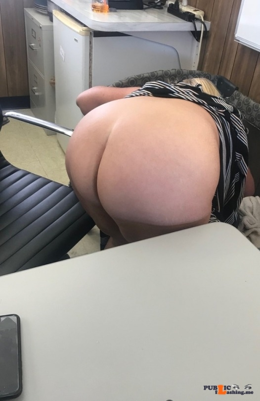 No panties forevercpl: Office flash pantiesless