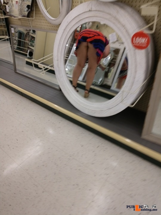 No panties allaboutthefun32: We continued our fun while we were shopping ? pantiesless