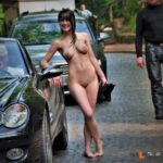 Public nudity photo laylalives1989: Me nude on a strangers Mercedes convertible in…