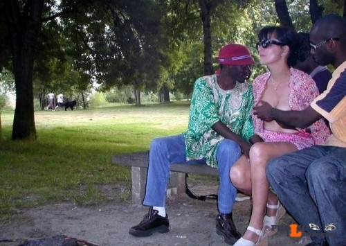 Exposed in public Groped & felt up up by strangers in the park…