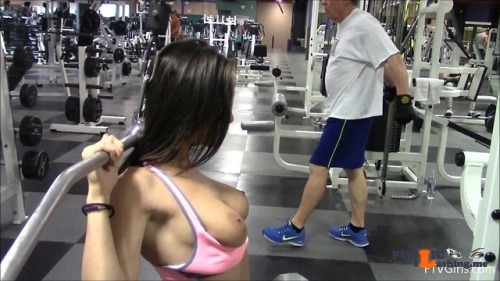 FTV Babes Gorgeous Lana didn't seem to care who saw her tits at the gym….