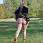 No panties mastersbuttcat: #buttcat out in the woods. hiking… pantiesless