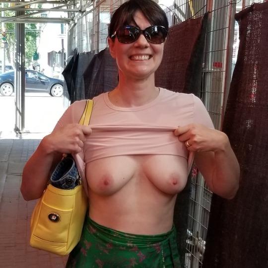 Gorgeous mature sluts Public Flashing